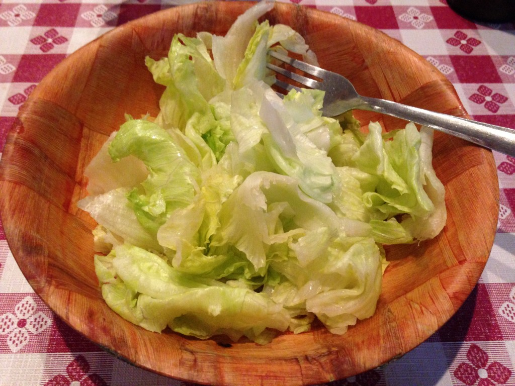 Salad Hold the Dressing and Cheese