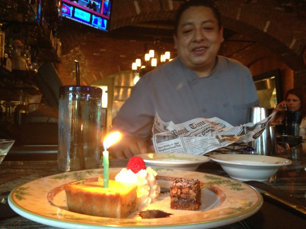Dessert from Yuri on my fake birthday.
