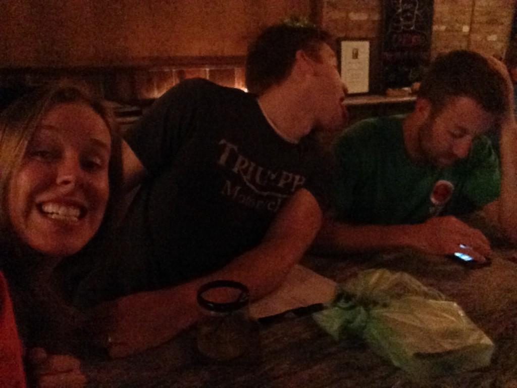Clowns at the bar on my birthday.