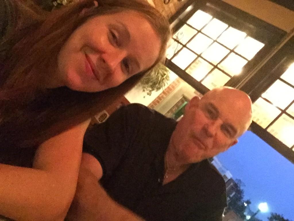 Lindsay and Dad at the bar.