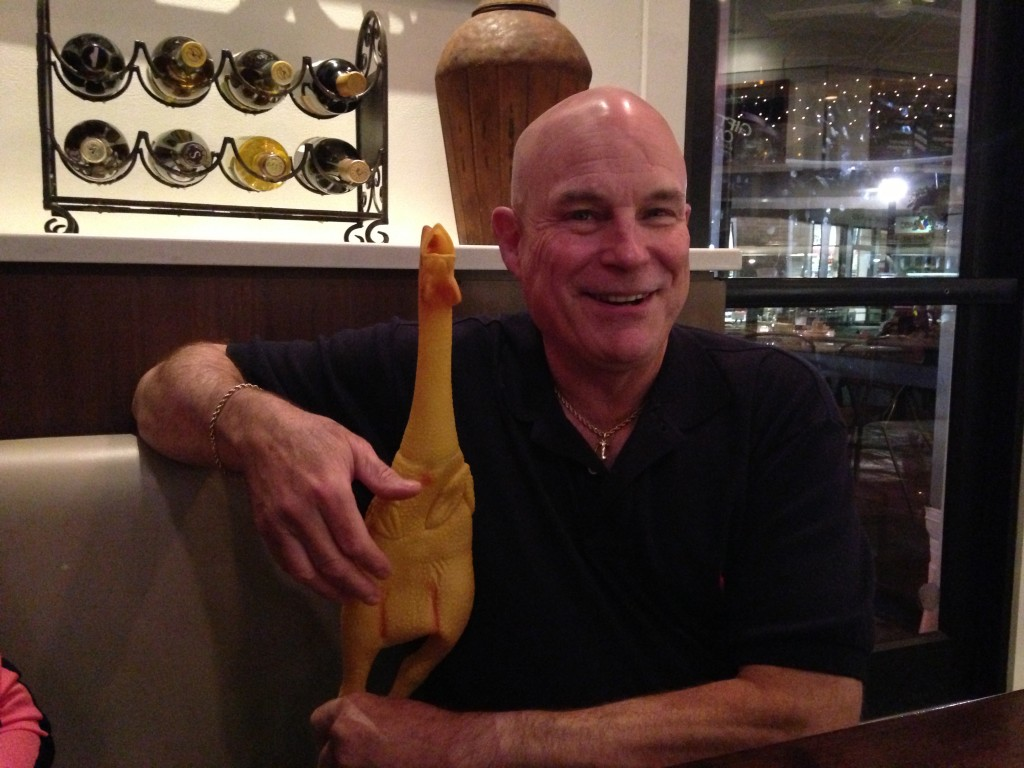 2013 Dad with Rubber Chicken